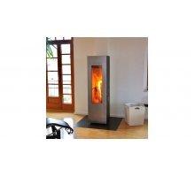 Отопительная печь Concept Feuer Matrix, черная/дверь нерж.сталь