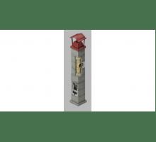 Керамический дымоход ECOOSMOSE OSMOTEC D=120 мм. Одноходовой 9 пм