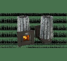 Дровяная банная печь Grill'D Cometa 180 Vega Window Stone