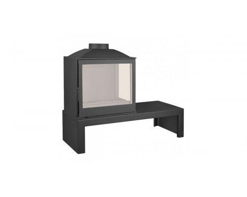 Отопительная печь Liseo Castiron LCI 5 GFR Table, стекло справа