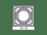 Универсальный комплект шибера тип 1