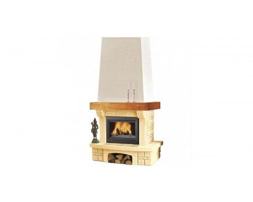 Каминная облицовка Supra Talence SR, прямая, с деревянной балкой (Supra-Russia)