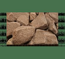 Камни для бани Гефест малиновый кварцит обвалованный 20 кг